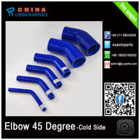 high performance automotive all kinds of color 45 degree silicone elbow hose