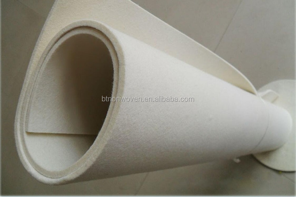 cheap price white color needle punched nonwoven polyester recycle felt
