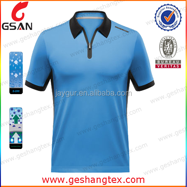 Quick dry performance polyester golf shirt--design your own golf sports clothes