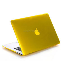 transparent yellow crystal hard case customized design case for macbook 13'' Eco-friendly PC Pro Retina 13'' case for macbook