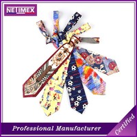 100% silk/polyester printing necktie design your own tie