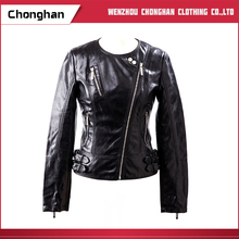 Chonghan Spring Autumn Women XXL Size PU Leather Motorcycle Jackets