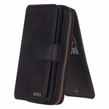 For Samsung S5 luxury Leather Phone Case, Flip Cover with Credit Card Holder Back Cover for Samsung S5