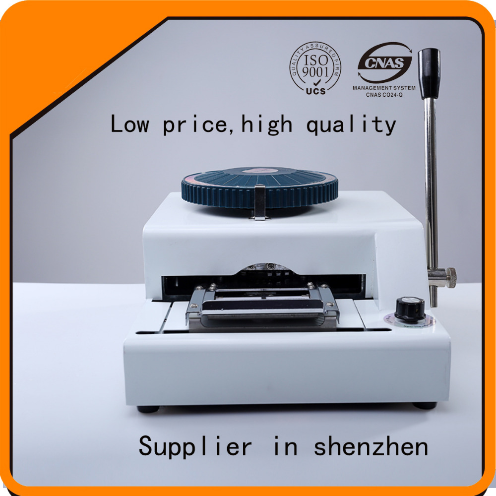 personalization manual plastic card embossing machine, number and letter embosser machine