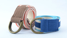 Fashion casual trimmed Striped Canvas Belt