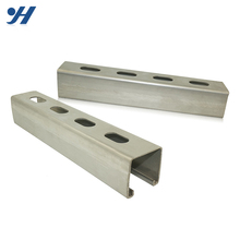 High Quality slotted galvanized strut steel gi c Iron channel