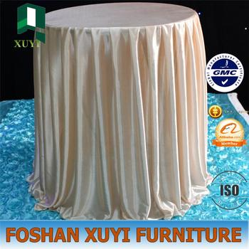 new modern round table cloth for wedding