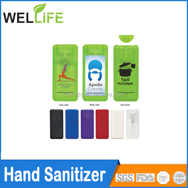 10ML Mini Credit Card Shape Hand Sanitizer Liquid Soap Dispenser