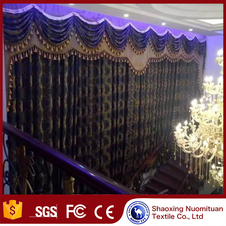 2017 Top Fashion turkish polyester curtain fabric turkish curtain factories draperi