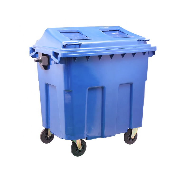 1100 Liter Large Size Plastic Novelty Outdoor Waterproof Household Garbage Can Bin With Wheels