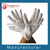 100% White Cotton Gloves With PVC dots Military Ceremony Gloves