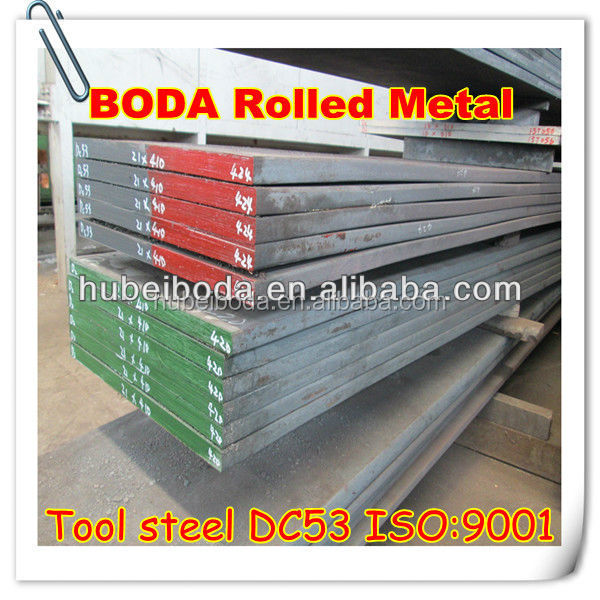 typically used for manufacturing rolled flat steel DC53