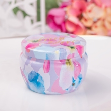 Small round metal mint/chocolate tin box, little tin can