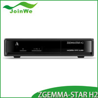 2015 New Arrival Zgemma-star H2 with DVB-S2+T2 Twin tuner 751MHz Full HD satellite receiver Zgemma star H2