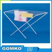 Smooth folding metal clothes drying rack/towel dryer