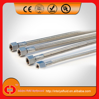 "stainless steel wire braided, 1/4"" 3/8"" NPT JIC, 36"" 48""virgin ptfe tube for extractor equipment"
