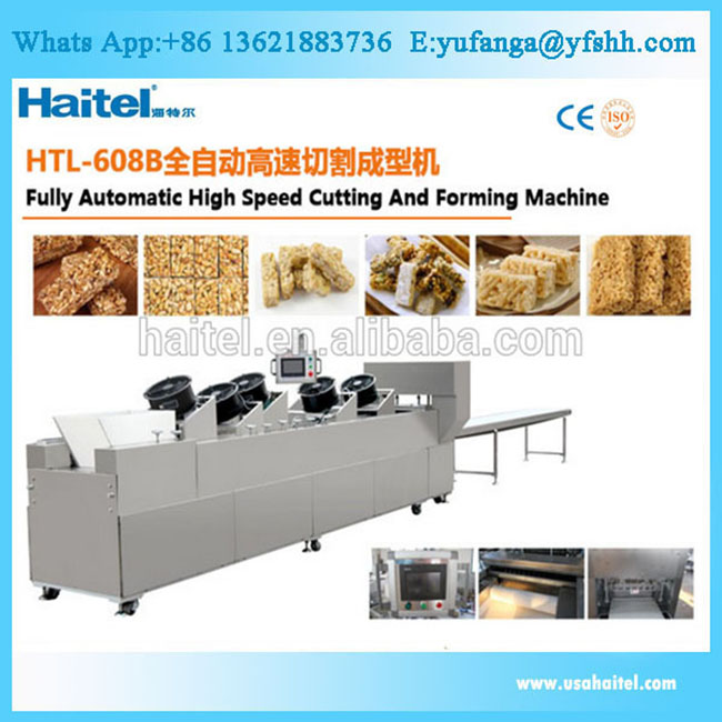 Automatic Belt Type Peanut Candy Bar Maker / Snack Bar Making Machine