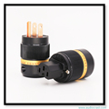 OEM Pure copper US Power Plug adapter +female IEC Connector for HIFI DIY Power cable