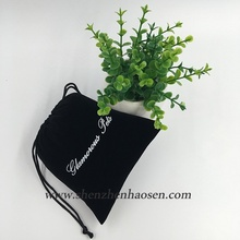 Top Sale Custom Black Velvet Drawstring Pouch With Hot Stamping