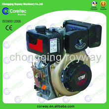 high speed air cooled diesel engine with CE&ISO hot selling small water cooled diesel engine