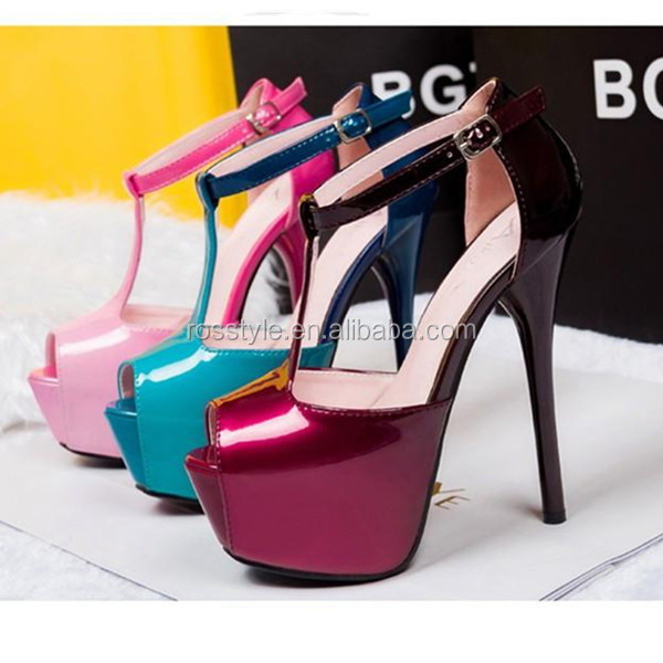 Beautiful elegant high heel colors sexy women shoes ankle strap dress shoes high heel women sandals