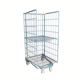 Heavy duty roll containers foldable supermarket cargo storage container steel mesh cage trolley