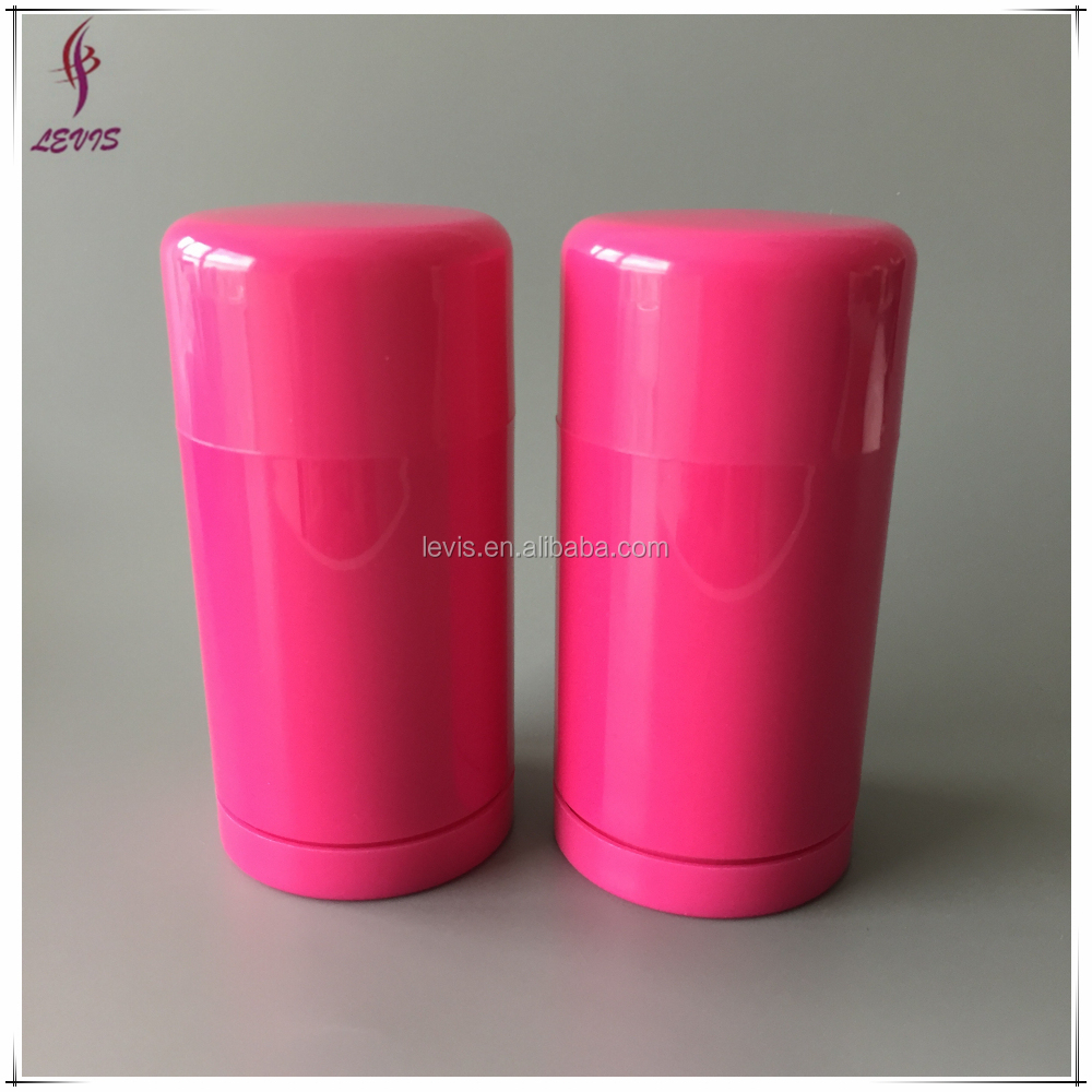 Round top fill plastic 75g packaging desodorante stick