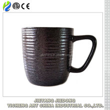 Wholesale cheap classical black coffee mugs ceramic