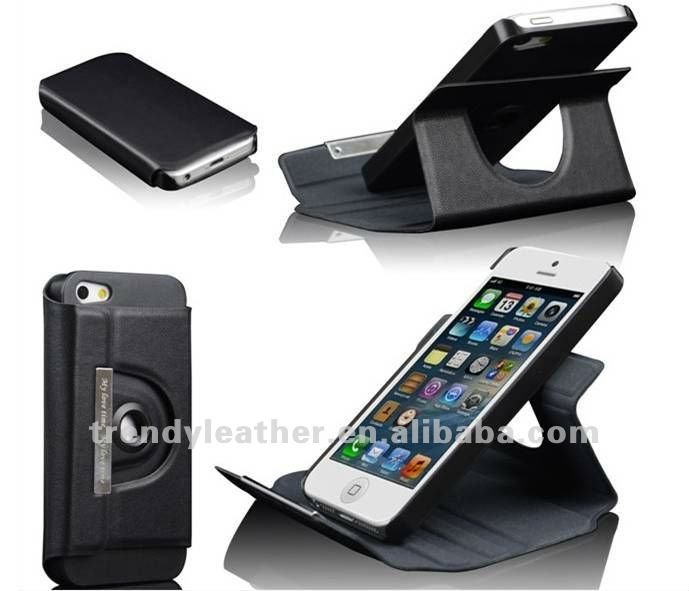 360 degree swivel rotatable case for Iphone 5