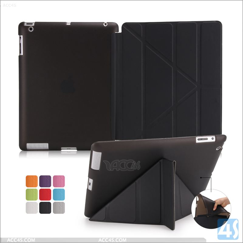 Waterproof Shockproof Case For iPad ,PU Leather Stand Case For iPad 4 3 2