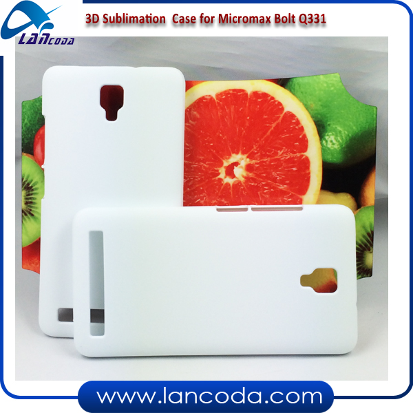 Lancoda 3D Blank Phone Cover Sublimation Case for Micromax Bolt Q331