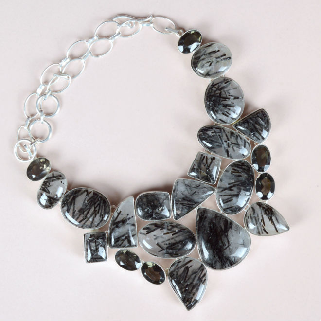 Dazzling German Silver Necklace
