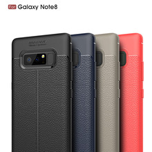 New style bendable leather design soft shockproof tpu mobile phone cover case for Samsung Galaxy Note 8