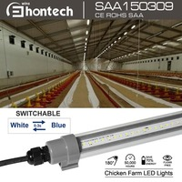 led animals light /waterproof led tube light dimmable/ SAA le poultry light system