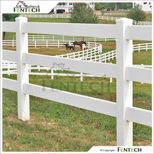 UV Resistant 3 Rails Post and Rail White PVC Horse Farm Fence