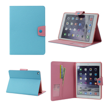 Cute Colorful Stand Book Case Combo Textured PU Leather for 12 Inch Tablet PC Cover
