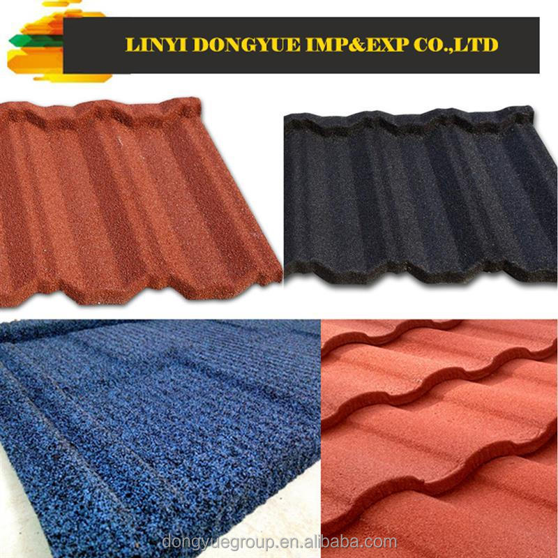 stone coated roofing tile manufacturer textured metal roofing stone chip coated metal roofing