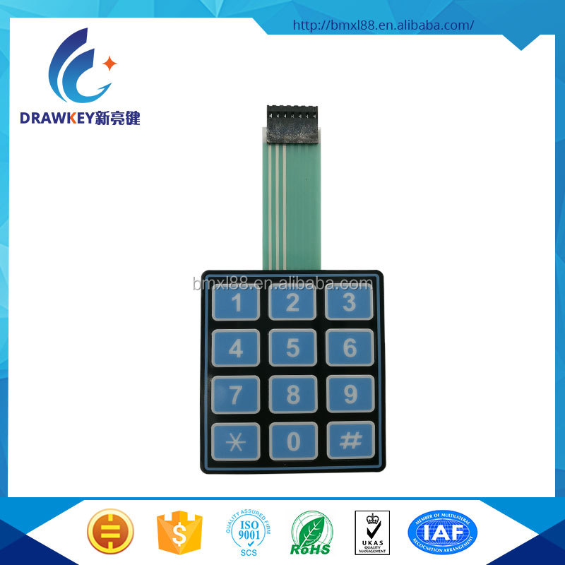 3x4 12 Key Matrix Membrane Switch Keypad Keyboard