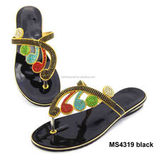 MS4319 black Wholesale fashion design women 2016 flat sandals