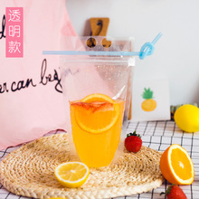 Plastic Reusable Drink juice zipper clear frost stand up pouches bag beverage doypack frosted transparent drink bags stand up