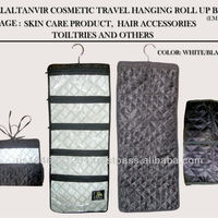 Travel Roll Up Cosmetics Bag Black