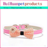 Nice crystal bow dog collar for dogs and cats