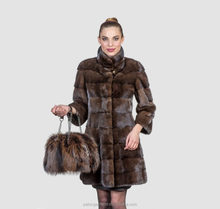 Cheap Custom regular fit tailored shape real mink fur coats for women