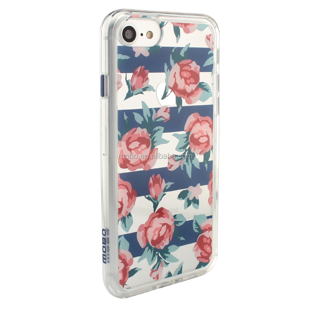 new 2016 IP7S cover in flower luxury design in slim TPUPC materails