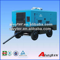Mining used portable screw diesel air compressors for drilling rig