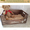 personalised wooden bed basket crate for dogs puppies cats