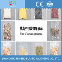 transparent plastic vacuum packed bags for cookies fruits and vegetables