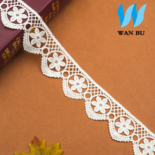 Fine rose flowers lace accessories clothing trimmed milk silk water soluble embroidery lace width 6cm