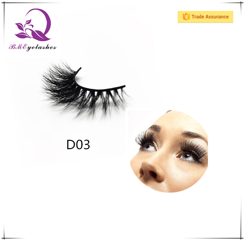 2017 Manufacturer Wholesale Private Label D03 style 3D Eye lashes,mink lashes eyelash