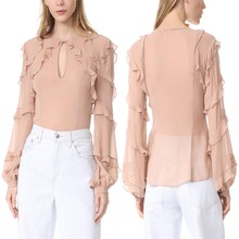 Women's Blouses Chiffon Top Selling Product In USA 2017 Korea Design Blouse Ladies Office Wear Tops